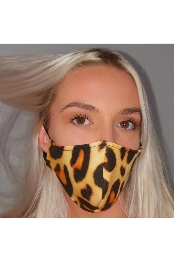 Masca fashion, Laura Olteanu, leopard