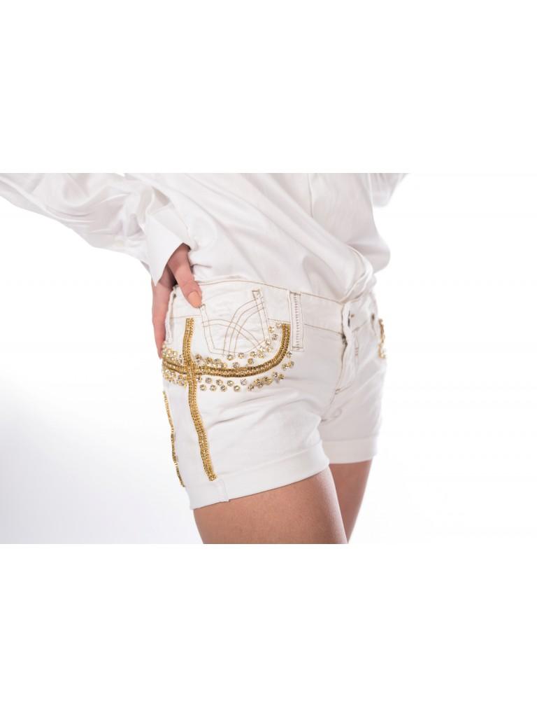 Pantalon scurt jeans alb